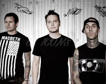 Blink 182 signed photo print - 12x8 inch - high quality -