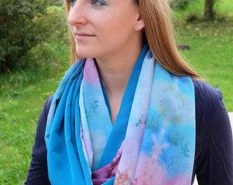 "Scarf ""Colorful Lake"""