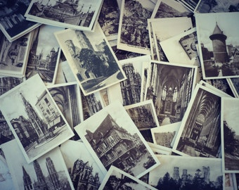Lot of 10 mini black and white photographic maps - real draw - France-