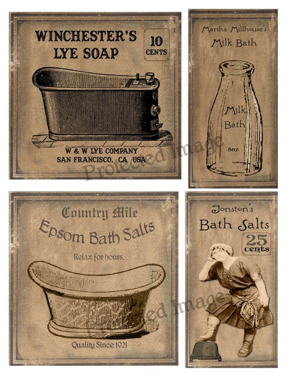 Items Similar To Primitive Milk Bath Salts Labels