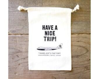 "Midori Tf ""have A Nice Trip!"" Cotton Gift Bag"