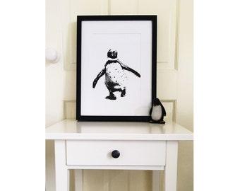 Penguin Illustration Print
