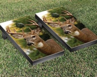 Deer Cornhole Game Set Design