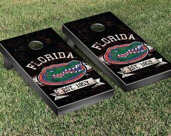 Florida UF Gators Cornhole Bag Toss Game Set Banner Version