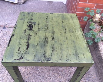 Distressed side table