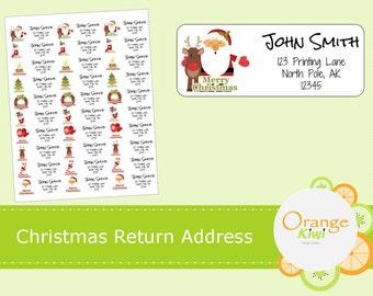 Christmas Return Address Labels - Custom Return Address Labels - Custom Stickers - Christmas Envelope Stickers - Custom Christmas Stickers