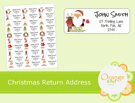 Nifty image within free printable christmas address labels