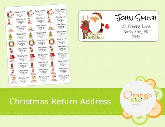 christmas return address labels custom return address labels. Black Bedroom Furniture Sets. Home Design Ideas