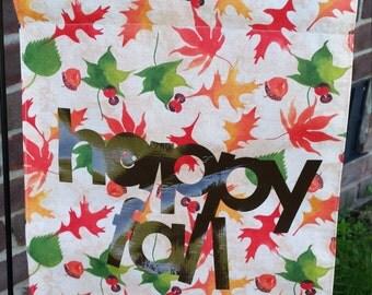 Happy Fall Autum Leaves Garden Flag