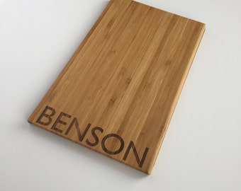 Personalized Cutting Board - Modern - Wood Cutting Board - Chopping Block - Housewarming Gift