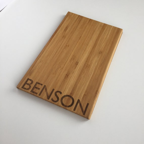 Personalized Cutting Board Modern Wood Cutting Board