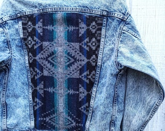 Vintage Levis Denim with Pendleton