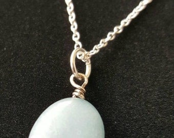 Light Blue AQUAMARINE Necklace!
