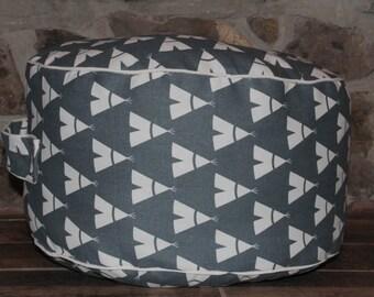 Kids Floor Pillow, Cushion, Bean Bag Chair, Playroom Seat, Pillow Pouf