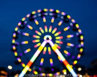 Photography Digital Download Original Art Night Ferris Wheel