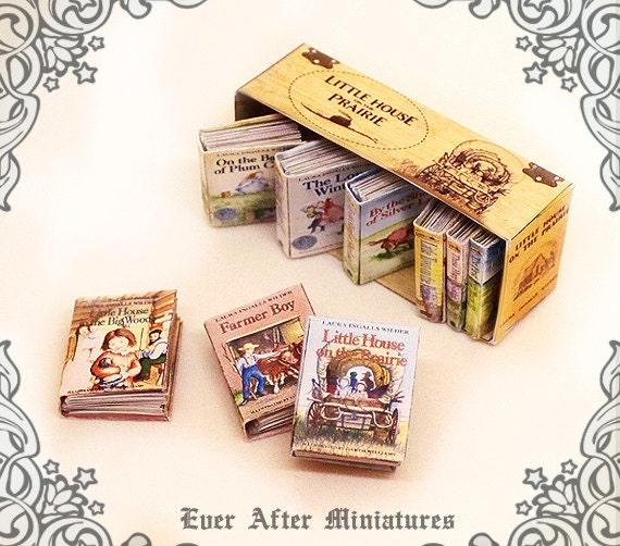 9 Little House On The Prairie Dollhouse Miniature Book Set By