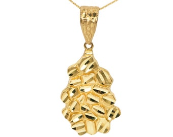 10k Yellow Gold Nugget Necklace