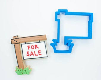 Real Estate Sign Cookie Cutter