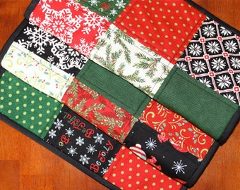Christmas Table Runner, Quilted Christmas Table Runner, Be Jolly, Snowman Table Runner, Handmade, Red Black Green White, Snowflake, Moda