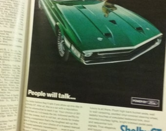 Original 1969 Shelby GT 350/500 Ad Intact In Complete May 1969 Issue Of Playboy