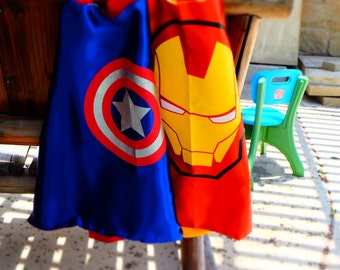 Avengers Capes - Captain America, Hulk, Iron Man & Thor Superhero birthday party favors, Superhero party, superhero capes