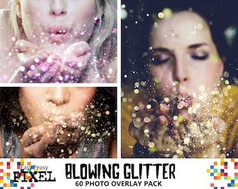 BLOWING GLITTER OVERLAYS, Glitter Overlays, Glitter Overlay, Photoshop Overlays, Photo Overlays, Wedding Overlays, Conffeti Overlays