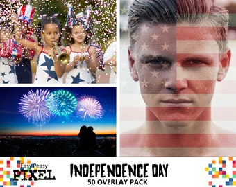 INDEPENDENCE DAY Overlays, Photoshop Overlay, Photoshop Overlays, 4th of July, USA, American Flag, July the Fourth