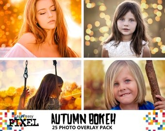 AUTUMN BOKEH OVERLAYS, Bokeh Overlays, Photoshop Overlays, Bokeh Lights, Autumn Overlays, Autumn, Halloween Overlays, Lights Overlay