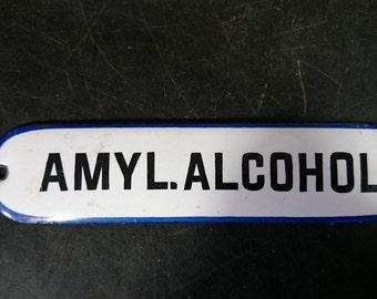 Vintage enamel apothecary drawer labels