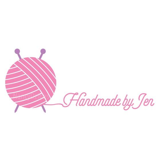 Knit logo Yarn logo Crochet logo Handmade shop logo