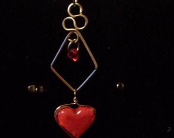 Heart belly ring.