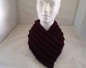 Cowl neck scarf - Burgundy #1003