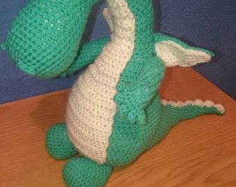 Dozer the cute crochet green dragon