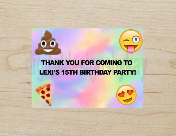 Emoji Birthday Party Thank You Cards Emoji Emoji Birthday