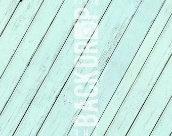 Small Photography Backdrop - Teal Wood - 2'x2', 2'x3', 3'x3', 3'x4'