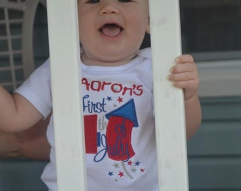 First 4th of July Baby Shirt
