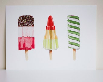Lollies A3 Signed Print