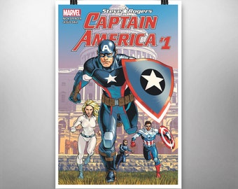 "Captain America - Steve Rogers #1 Comic Book Cover Print (13"" x 19"")"