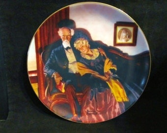 "Vintage Norman Rockwell's Golden Moments "" End of Day "" Collector Plate"
