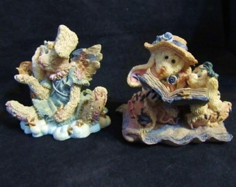 Three Bearstone Collection Boyds Bears & Friends 1) Celeste and Daphne+ Eloise Figurines
