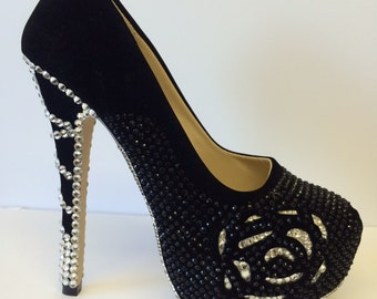 Customena Handmade bling shoes .