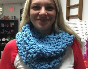 Blue wool blend cowl