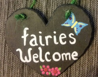 "Fairies Welcome Sign (2.5"")"