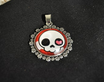 Cute Skull Necklace Charm