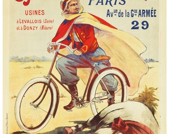 Vintage Cycles Megret French Advertising Poster Print