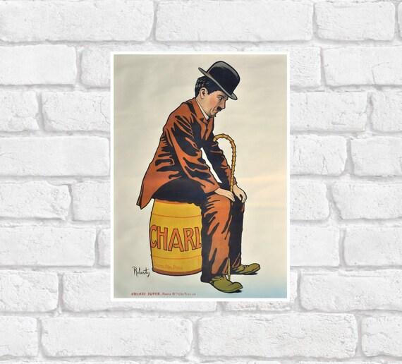 Vintage 1917 Charlie Chaplin Poster Print by AndysPrintsUK ...