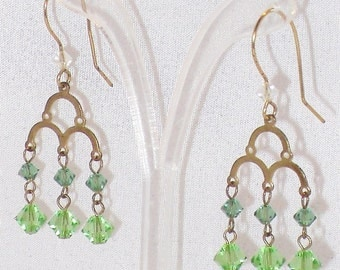 Eva Chandelier Earrings with Swarovski Crystal