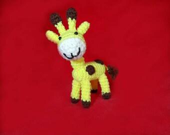 Crocheted stuffed giraffe