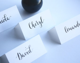 Handwritten Calligraphy Personalised Wedding Place Card