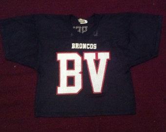 Black Mesh Cropped Broncos Jersey Wilson Athletic Sheer
